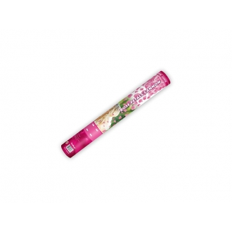 Tuba z płatkami róż, różowy, 40cm, 1szt.