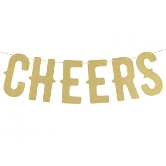 Baner Cheers, złoty, 12,5 x 50cm, 1szt.