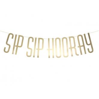 Baner Sip Sip Hooray, 14 x 70cm, 1szt.