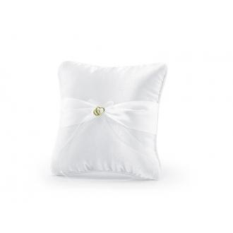 Poduszka pod obrączki, biały, 20 x 20cm, 1szt.