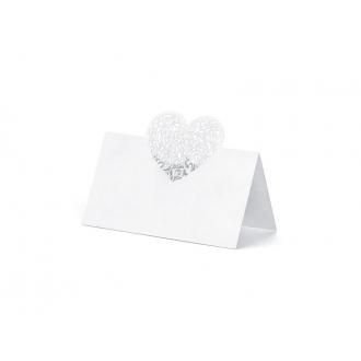 Wizytówki na stół Serce, 9 x 6,5cm, 1op.