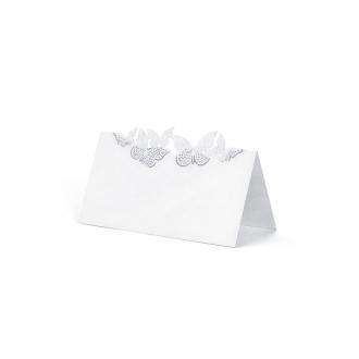 Wizytówki na stół Motylki, 9,2 x 5,7cm, 1op.