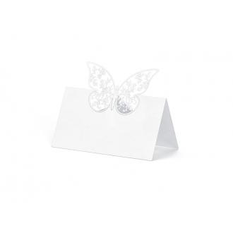 Wizytówki na stół Motyl, 9 x 7,3cm, 1op.