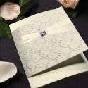 Zaproszenia z Motywem Kwiatowym z Ozdobnymi Kryształkami  T019