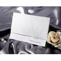 Zaproszenia Ślubne Ozdobione Delikatnym Srbrzeniem oraz Tłoczeniem T1124