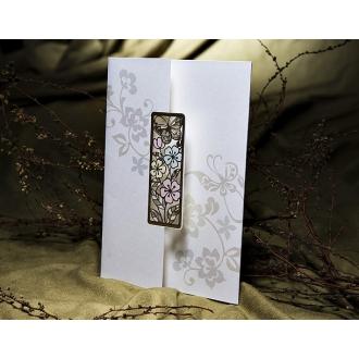 Zaproszenia w Kolorowe Kwiatki i Motyle T1139