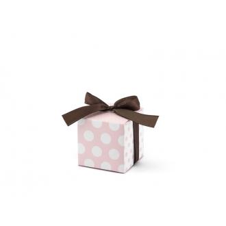 Pudełeczka w kropki, różowy, 1op.