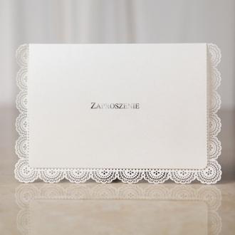 Zaproszenia Ślubne z Wycięciem Przypominającym Koronkę TBH3215