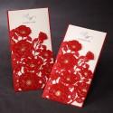 Zaproszenie z Motywem Czerwonych Kwiatów TCW1014