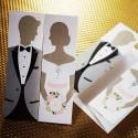 Zaproszenia Ślubne w Formie Młodej Pary TH0210