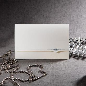 Zaproszenia Ślubne z Srebrzonym Ornamentem TW1131