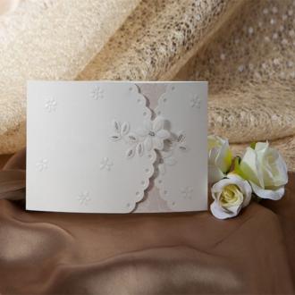 Zaproszenia Ślubne z Kwiatowym Ornamentem TW8114