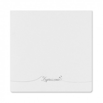 Zaproszenia Ślubne w Kolorze Białym z Delikatnym Wzorem F1154tb