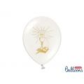 Balony 27cm, I Komunia Święta, P. White, 6szt.