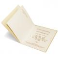 Zaproszenia Ślubne Ozdobione Złotym Motywem 069.45.03