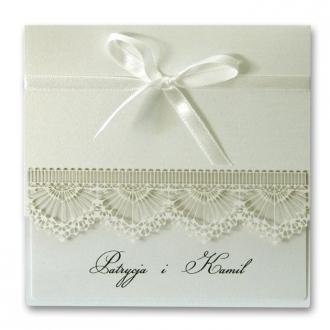Zaproszenia Ślubne z Metalizowanego Papieru w Kolorze Perłowym  088.02.05