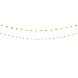 Girlanda Gwiazdy, złoty, 1op.
