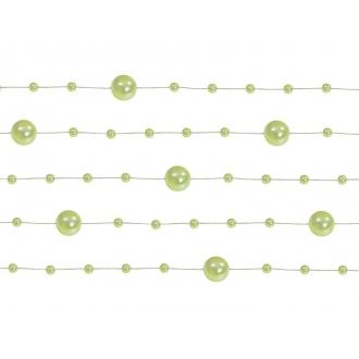 Girlandy perłowe, j. zieleń, 1,3m, 1op.