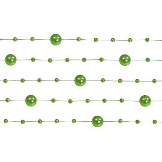 Girlandy perłowe, zielony, 1,3m, 1op.