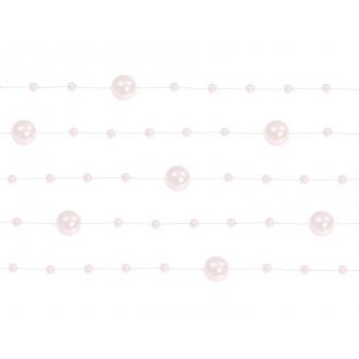 Girlandy perłowe, j. różowy, 1,3m, 1op.