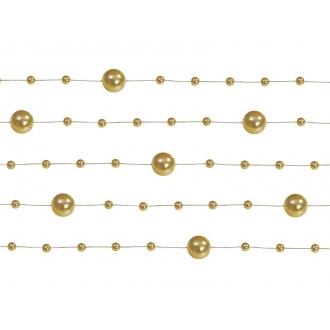 Girlandy perłowe, złoty, 1,3m, 1op.