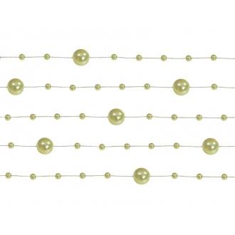Girlandy perłowe, j. oliwka, 1,3m, 1op.