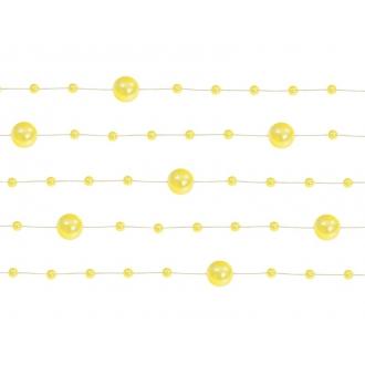 Girlandy perłowe, żółty, 1,3m, 1op.