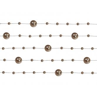 Girlandy perłowe, cappuccino, 1,3m, 1op.