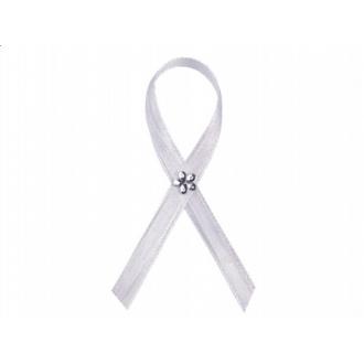 Kotyliony ze srebrnym kwiatkiem, biały, 1op.