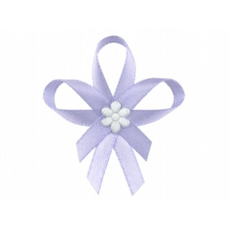 Kotyliony z satynowym kwiatkiem, j. fiolet, 1op.