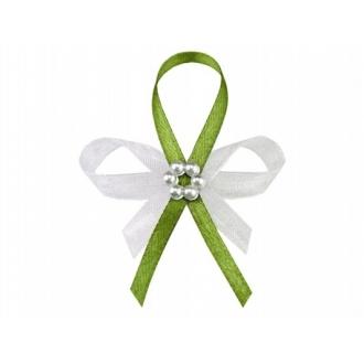 Kotyliony z perłowym kwiatkiem, j. zieleń, 1op.