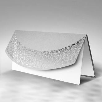 Zaproszenia Ślubne w Kolorze Srebrnym z Fantazyjnym Wzorem F1174s