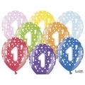 Balony 30cm, 1st Birthday, Metallic Mix, 6szt.