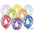 Balony 30cm, 6th Birthday, Metallic Mix, 6szt.