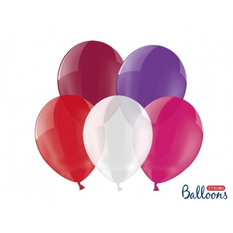 Balony Strong 23cm, Crystal Mix, 100szt.