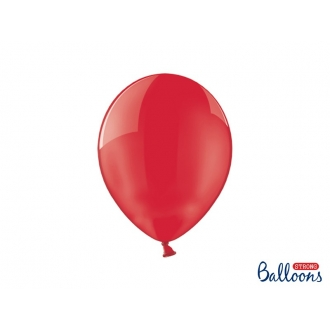 Balony Strong 27cm, Crystal Poppy Red, 100szt.