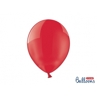 Balony Strong 30cm, Crystal Poppy Red, 100szt.