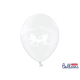 Balony 30cm, Wiwat Młodzi!, Crystal Clear, 50szt.