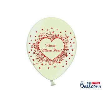 Balony 30cm, Wiwat Młoda.., Metallic Cream, 50szt.