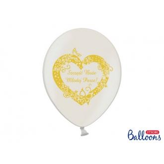 Balony 30cm, Szczęść Boże..., M. White, 50szt.