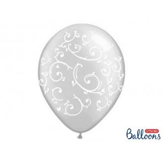 Balony 35cm, Esy Floresy, Crystal Clear, 50szt.
