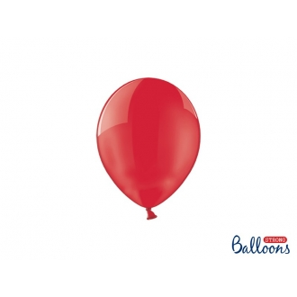 Balony Strong 12cm, Crystal Poppy Red, 100szt.