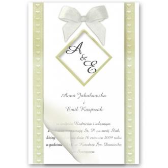 Zaproszenia Ślubne z Motywem Złotych Serduszek CF03474