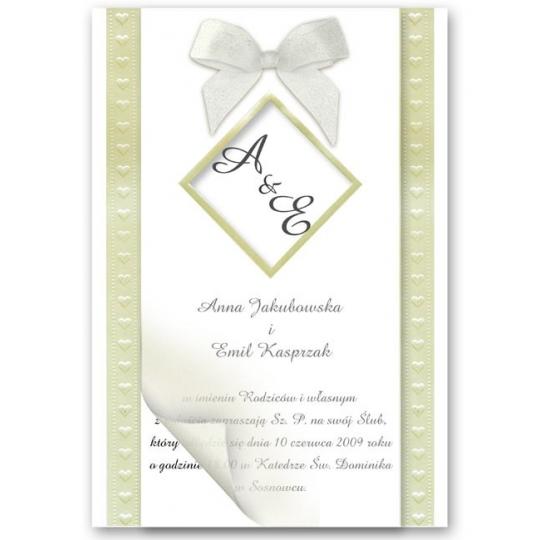 Zaproszenia Ślubne CF03474