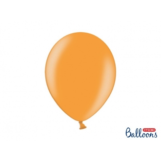 Balony Strong 30cm, Metallic Mand. Orange, 10szt.