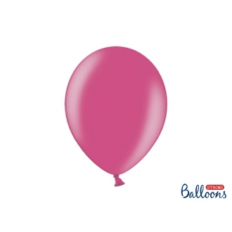 Balony Strong 30cm, Metallic Hot Pink, 50szt.