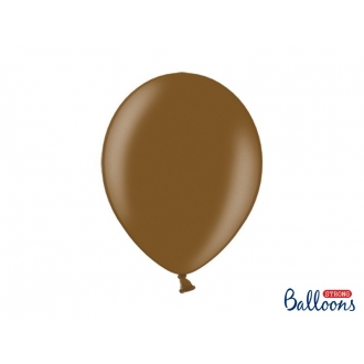 Balony Strong 30cm, Metallic Choco. Brown, 10szt.