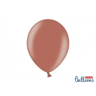 Balony Strong 30cm, Metallic Sienna, 50szt.