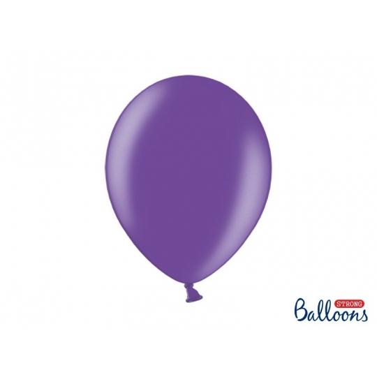 Balony Strong 30cm, Metallic Purple, 50szt.