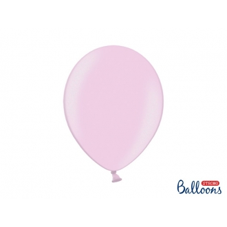 Balony Strong 30cm, Metallic Candy Pink, 10szt.